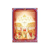 Икона холст 'Собор Святых Новомучеников и Исповедников Российских' на подвесе