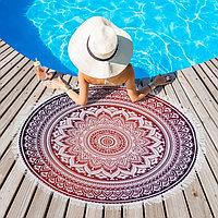 Полотенце пляжное круглое Этель Corral, диаметр 150 см, 100 п/э