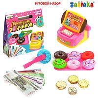 Игровой набор 'Магазин пончиков', касса с деньгами