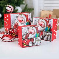 Набор коробок 3 в 1 'Новогоднее настроение', 13 х 13 х 8 - 9 х 9 х 6 см