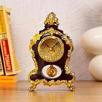 Часы-будильник настольные, d4.2 см, 1 АА, дискретный ход, микс