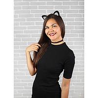 Карнавальный костюм взрослый 'Гламурная кошечка', ободок, ушки, чокер