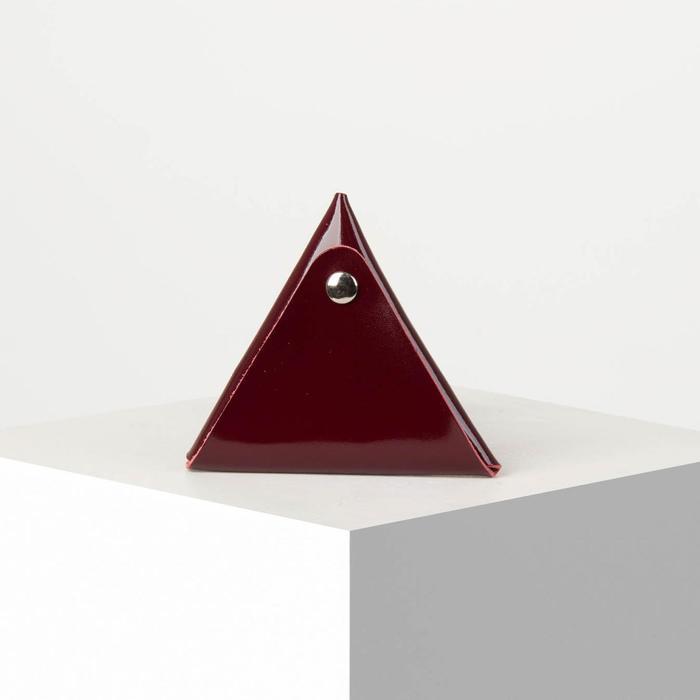 Футляр для монет/наушников на кнопке, цвет бордовый - фото 1