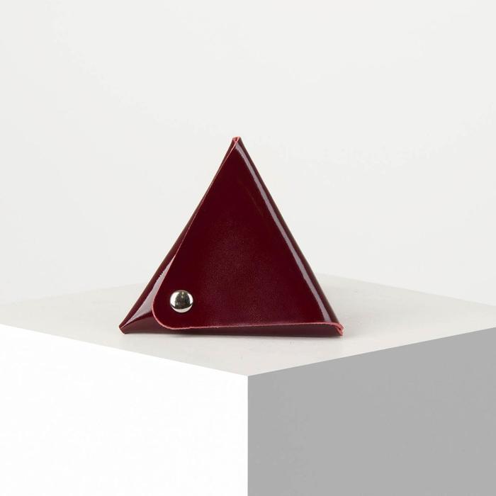 Футляр для монет/наушников на кнопке, цвет бордовый - фото 2