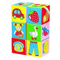 Набор развивающих мягких кубиков 'Предметы'