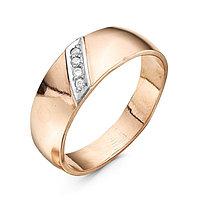 Кольцо 'Обручальное' дорожка, позолота, 17,5 размер