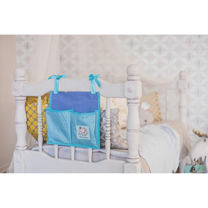 Кармашки на детскую кроватку 'Любимый сыночек', 2 отделения - фото 6