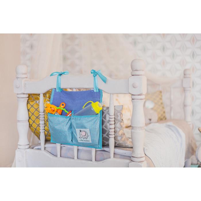 Кармашки на детскую кроватку 'Любимый сыночек', 2 отделения - фото 7