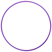Обруч профессиональный для художественной гимнастики, дуга 18 мм, d60 см, цвет фиолетовый