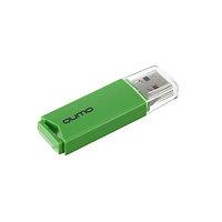 Флешка Qumo Tropic, 32 Гб, USB2.0, чт до 25 Мб/с, зап до 15 Мб/с, зеленая