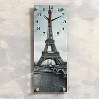 Часы-картина настенные, серия Город, 'Эйфелева башня', 20х50 см