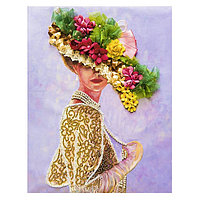 Мозаика из пайеток на холсте 'Грация'