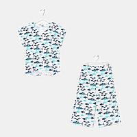 Пижама для девочки, цвет белый, рост 122-128 см