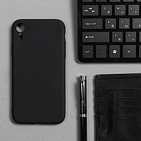 Чехол Innovation, для iPhone XR, силиконовый, матовый, черный