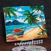 Картина по номерам на холсте с подрамником 'Дикий пляж' 40х50 см