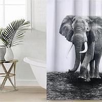 Штора для ванной комнаты Доляна 'Слон', 180x180 см, полиэстер