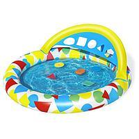 Бассейн надувной детский Splash Learn, 120 x 117 x 46 см, с навесом 52378 Bestway