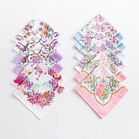 Платки носовые женские Этель 'Летний день' 30*30 см, (набор 12 шт), рис. МИКС,100 хлопок