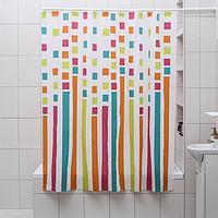 Штора для ванной комнаты Доляна 'Палитра', 180x180 см, EVA