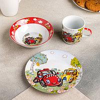 Набор детской посуды Доляна 'Такси', 3 предмета кружка 230 мл, миска 400 мл, тарелка
