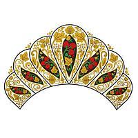 Термонаклейка 'Хохлома золотая' с ягодами, набор 10 шт.