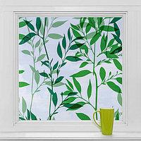 Витражная плёнка 'Листья', 45x200 см