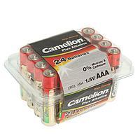 Батарейка алкалиновая Camelion Plus Alkaline, AAA, LR03-24BOX (LR03-PB24), 1.5В, набор 24 шт. 274985