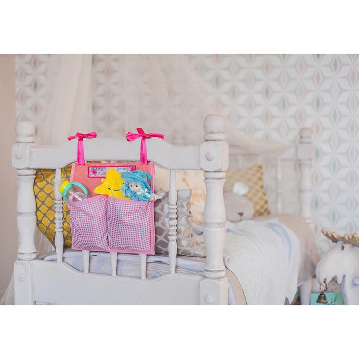 Кармашки на детскую кроватку 'Лучшая доченька', 2 отделения - фото 8