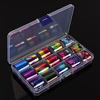 Набор переводной фольги для дизайна ногтей 'Космос', 2,5 x 100 см, 15 шт, цвет разноцветный