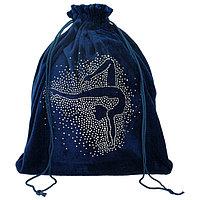 Чехол для мяча 'Гимнастка', цвет тёмно-синий, 35 x 36 см