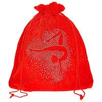 Чехол для мяча 'Гимнастка', цвет красный, 35 x 36 см