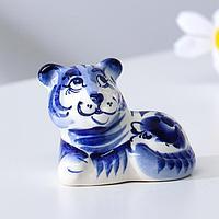 Сувенир Тигр 'Ник', 7,5 см, гжель (комплект из 2 шт.)