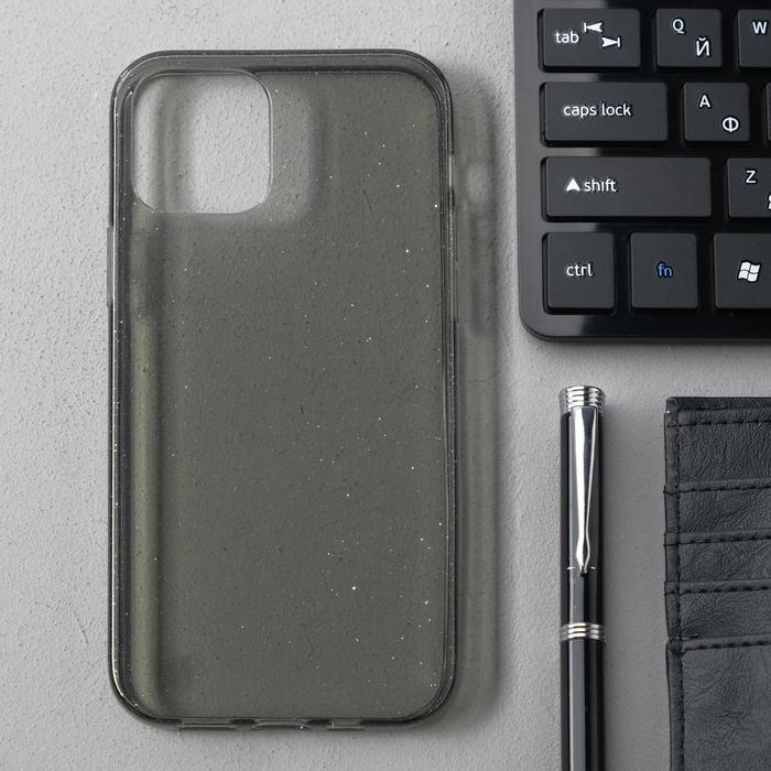 Чехол Activ SC123, для Apple iPhone 12/12 Pro, силиконовый, чёрный - фото 1