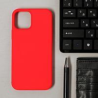 Чехол LuazON для телефона iPhone 12/12 Pro, Soft-touch силикон, красный