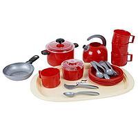 Набор посуды 'Ириска 9', в сетке, МИКС