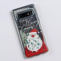 Чехол - шейкер для телефона Samsung S10 'Дед Мороз', 7,04 х 15,0 см