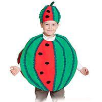 Карнавальный костюм 'Арбуз', текстиль, накидка и маска-шапочка, рост 98-128 см