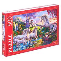 Пазлы 500 элементов 'Единороги и волшебный замок'