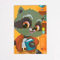 Алмазная мозаика для детей 'Енотик', 10 х 15 см. Набор для творчества