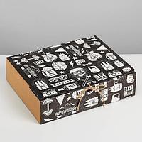 Коробка складная подарочная 'Мужская', 31 x 24,5 x 9 см