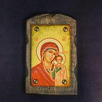 Икона над дверью под старину 'Казанская икона Божией Матери'
