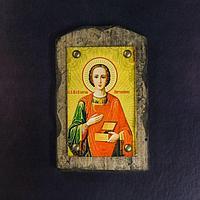 Икона над дверью под старину 'Святой целитель Пантелеимон'
