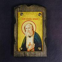 Икона над дверью под старину 'Святой Серафим Саровский'