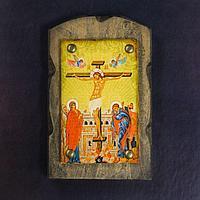 Икона над дверью под старину 'Распятие Господне'