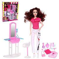 Кукла-модель 'Кэтти в салоне красоты' шарнирная, с мебелью и аксессуарами, МИКС