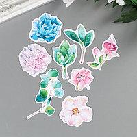 Набор высечек для скрапбукинга 'Цветы. Морской прибой' 41 элемент