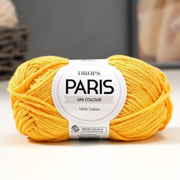 Пряжа 'Paris' 100 хлопок 75м/50гр (14 жёлтый) - фото 1