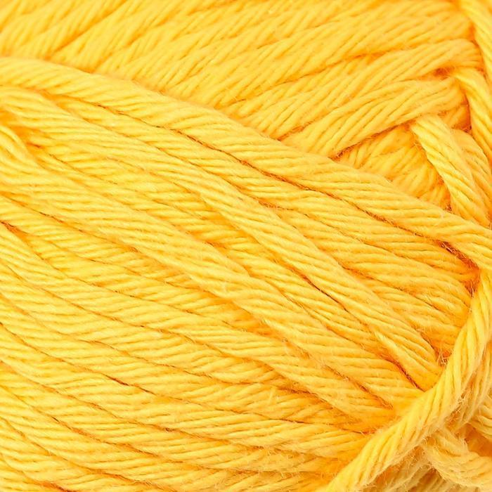 Пряжа 'Paris' 100 хлопок 75м/50гр (14 жёлтый) - фото 3
