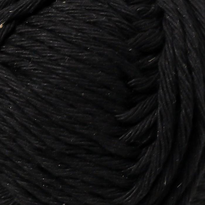 Пряжа 'Paris' 100 хлопок 75м/50гр (15 чёрный) - фото 3