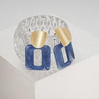 Серьги ассорти 'Комильфо', цвет синий в золоте
